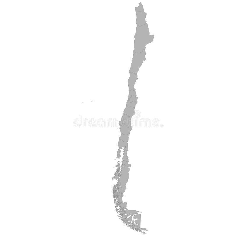 Karte der hohen Qualität lizenzfreie abbildung