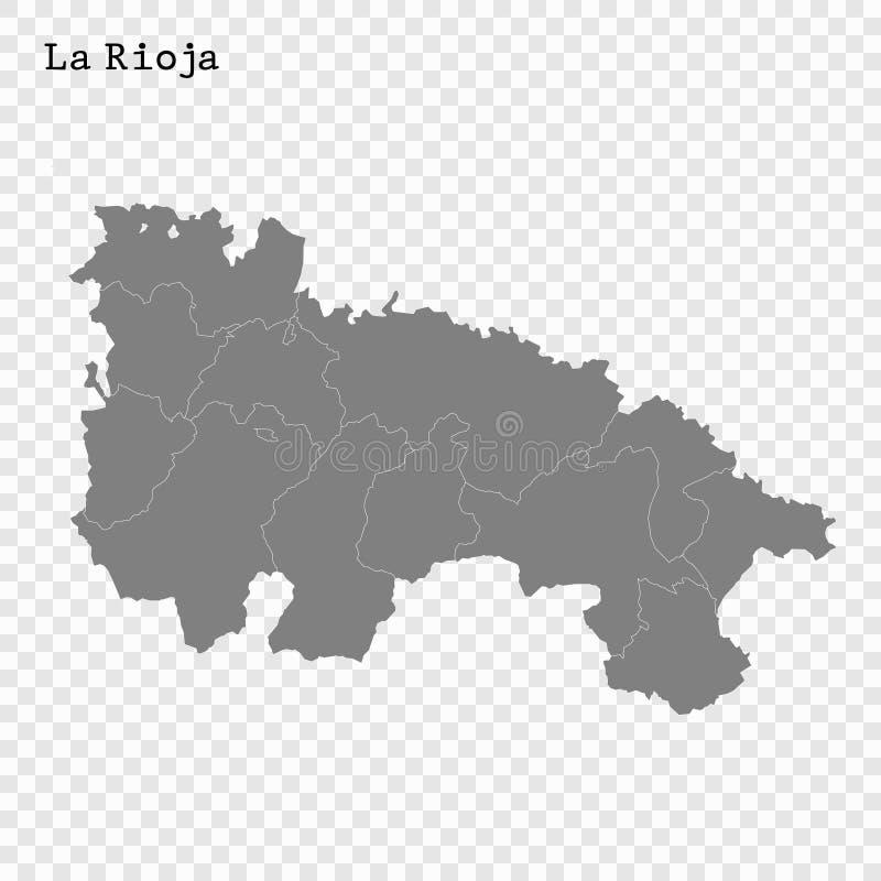 Karte der hohen Qualit?t ist ein Staat von Spanien vektor abbildung