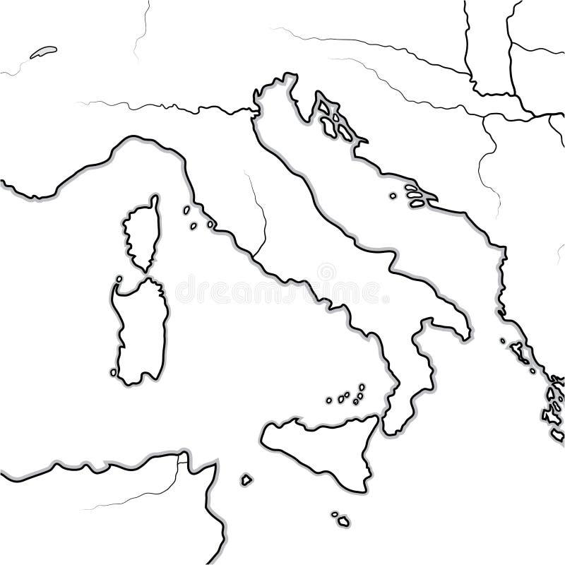 Karte der ITALIENISCHEN Länder: Italien, Toskana, Lombardei, Sizilien, der Apennines, italienische Halbinsel Geographisches Diagr vektor abbildung