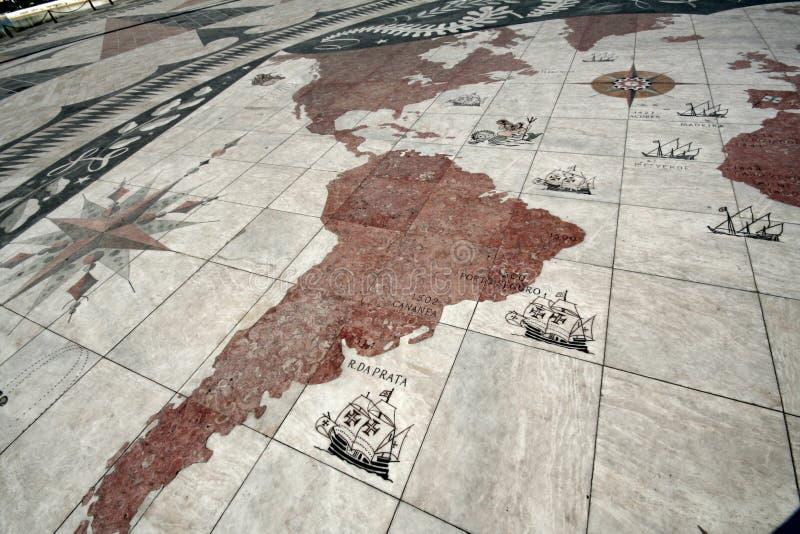 Karte der portugiesischen Entdeckung lizenzfreies stockfoto