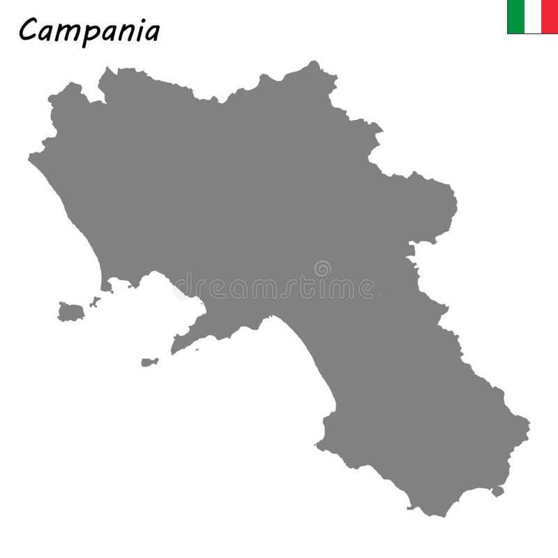 Karte der Region von Italien stock abbildung