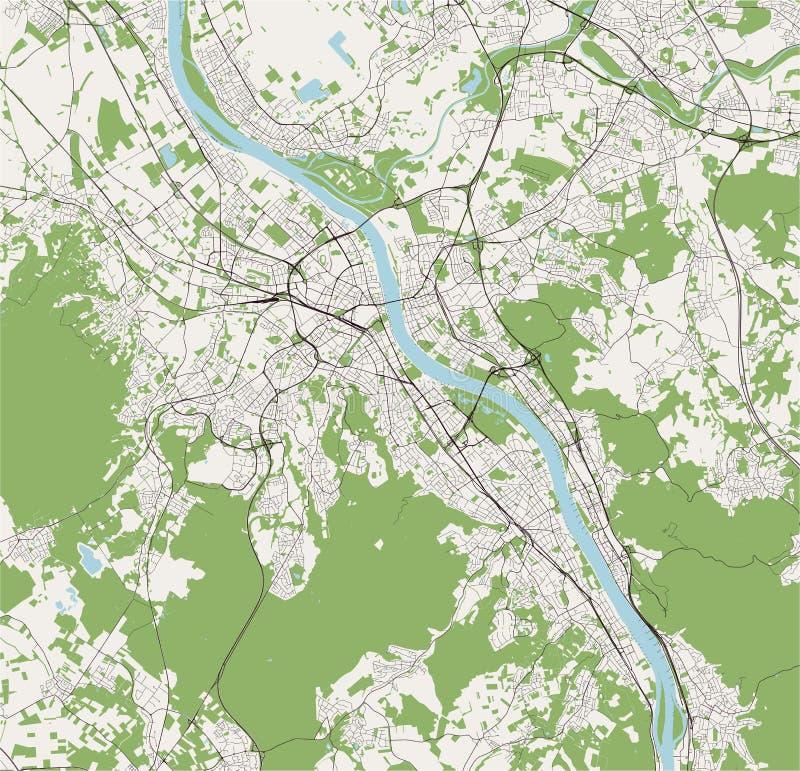 Bonn Karte.Bonn Stock Illustrationen Vektors Klipart 256 Stock