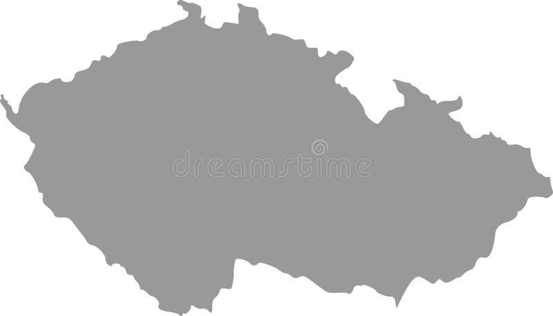 Karte der Tschechischen Republik stockbilder