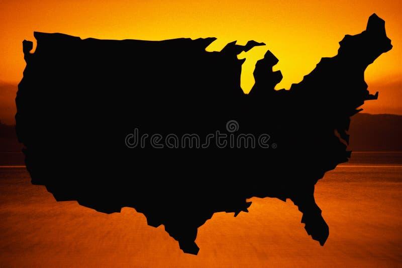 Karte der Vereinigten Staaten stockbild