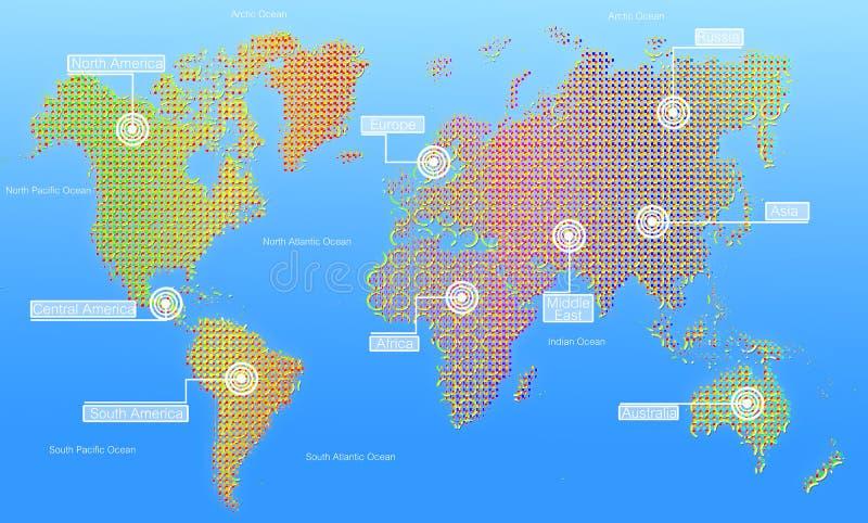 Karte der Welt. lizenzfreie abbildung
