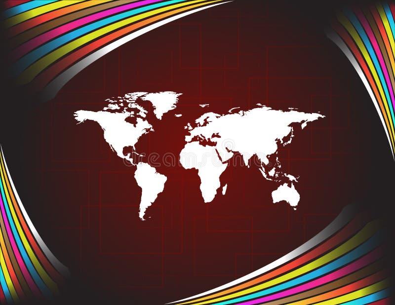 Karte der Welt lizenzfreie abbildung