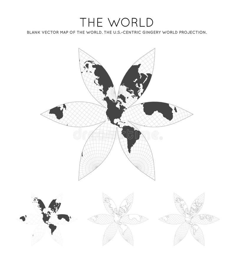 Karte der Welt Das US-H?chste Gericht in Washington, Gleichstrom S - zentrale Gingery Welt lizenzfreie abbildung