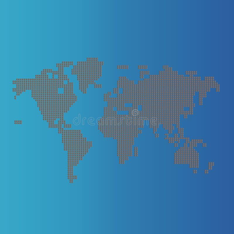Karte der Welt mit Schatten vektor abbildung