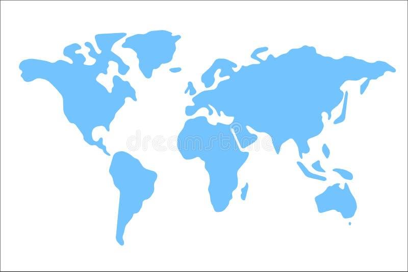 Karte der Welt mit Schatten stockbild