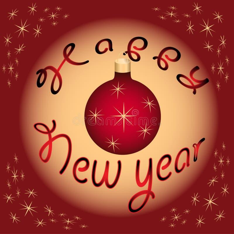 Karte des glücklichen neuen Jahres stockfotos
