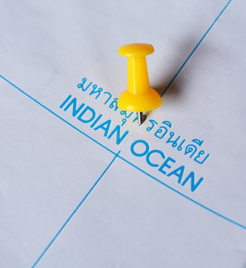 Karte des Indischen Ozeans stockfotografie