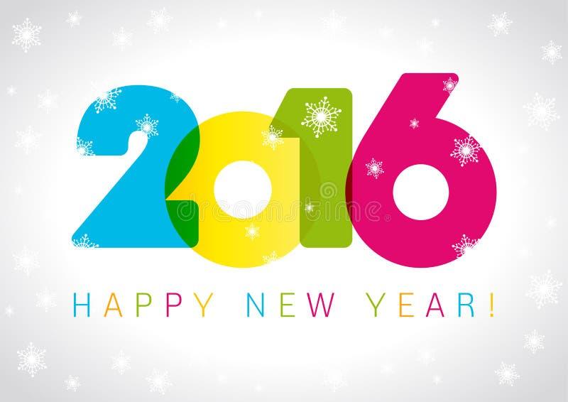 Karte des neuen Jahres 2016 stock abbildung