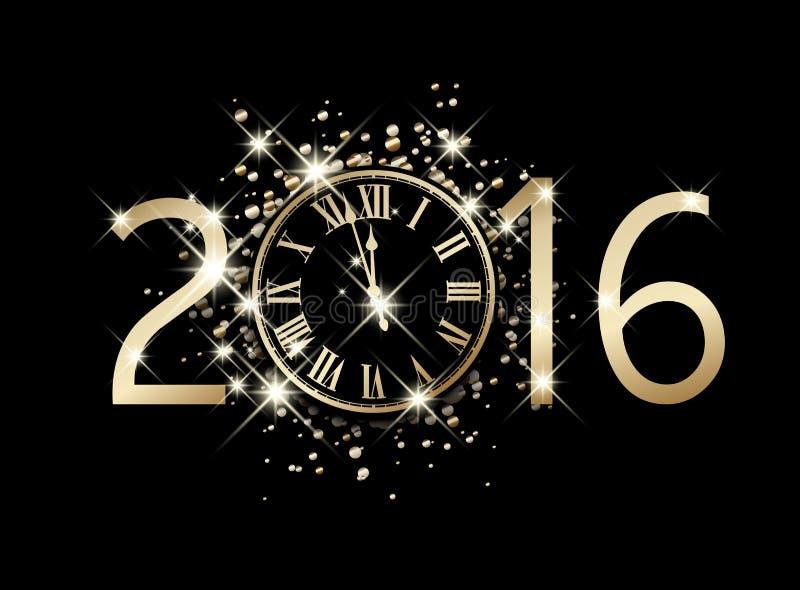 Karte des neuen Jahres 2016 vektor abbildung