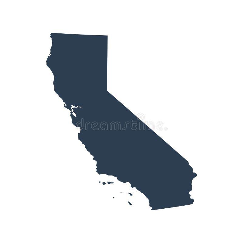 Karte des U S Zustand Kalifornien lizenzfreie abbildung