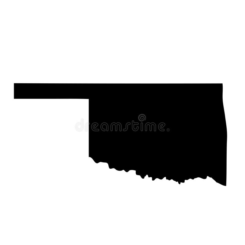 Karte des U S Zustand Oklahoma vektor abbildung