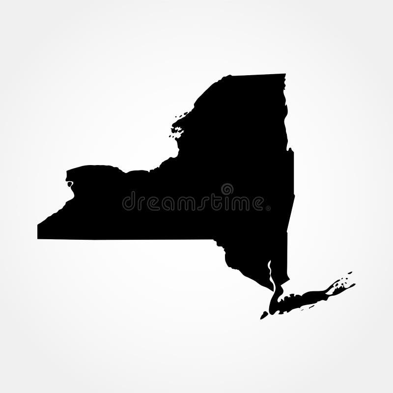 Karte des U S Zustand von New York lizenzfreies stockbild