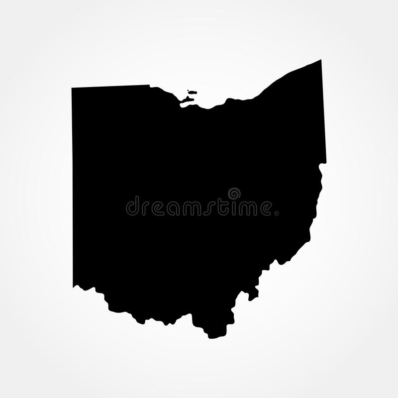 Karte des U S Zustand von Ohio lizenzfreie abbildung