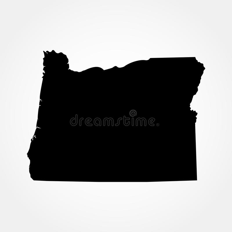 Karte des U S Zustand von Oregon lizenzfreie abbildung