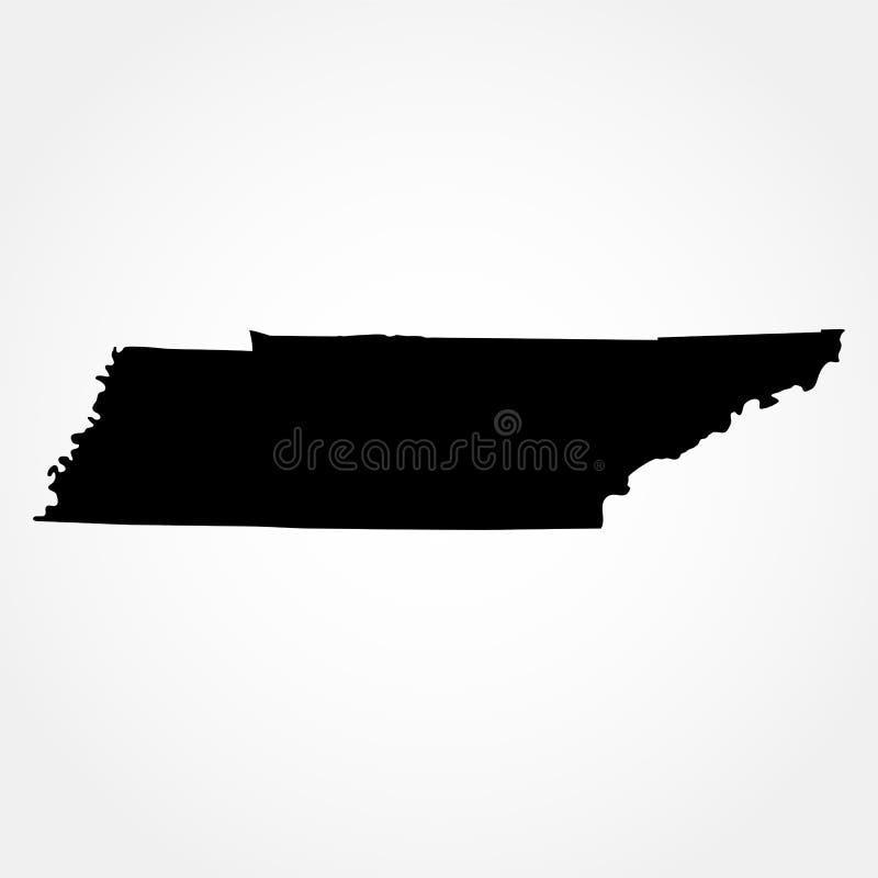 Karte des U S Zustand von Tennessee lizenzfreie abbildung