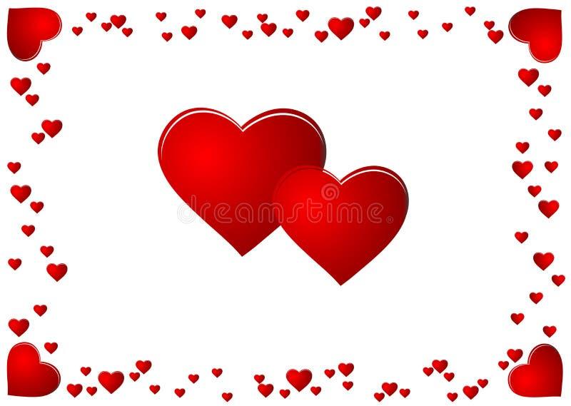 Karte des Valentinsgrußes stock abbildung