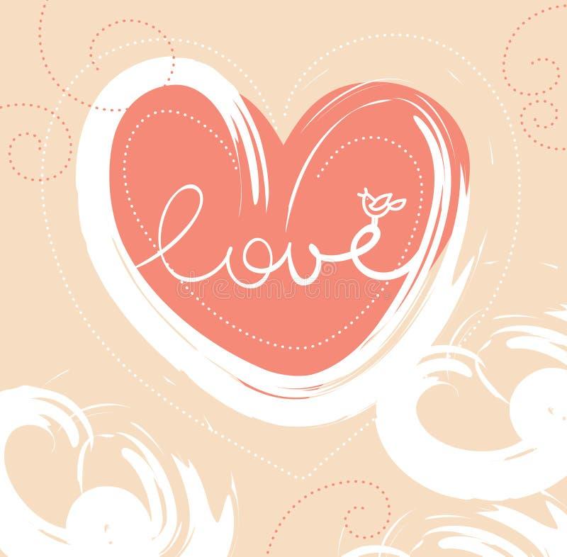 Karte des Valentinsgrußtages lizenzfreie abbildung