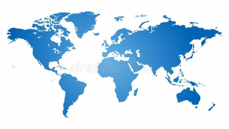 Karte des Weltvektors stock abbildung