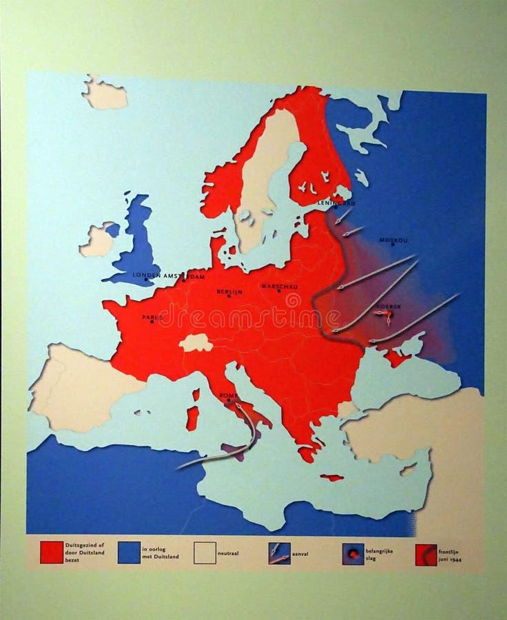 Karte Deutschlands von Invasionen und von R?ckz?gen von 1940 bis 1944, Zweiter Weltkrieg lizenzfreie stockfotos