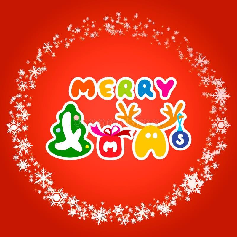 Karte für fröhliches Weihnachten vektor abbildung