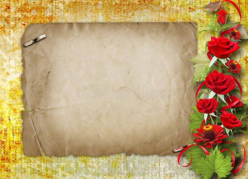 Download Karte Für Glückwunsch Mit Roten Rosen Stock Abbildung - Illustration von floral, feiertag: 27732229