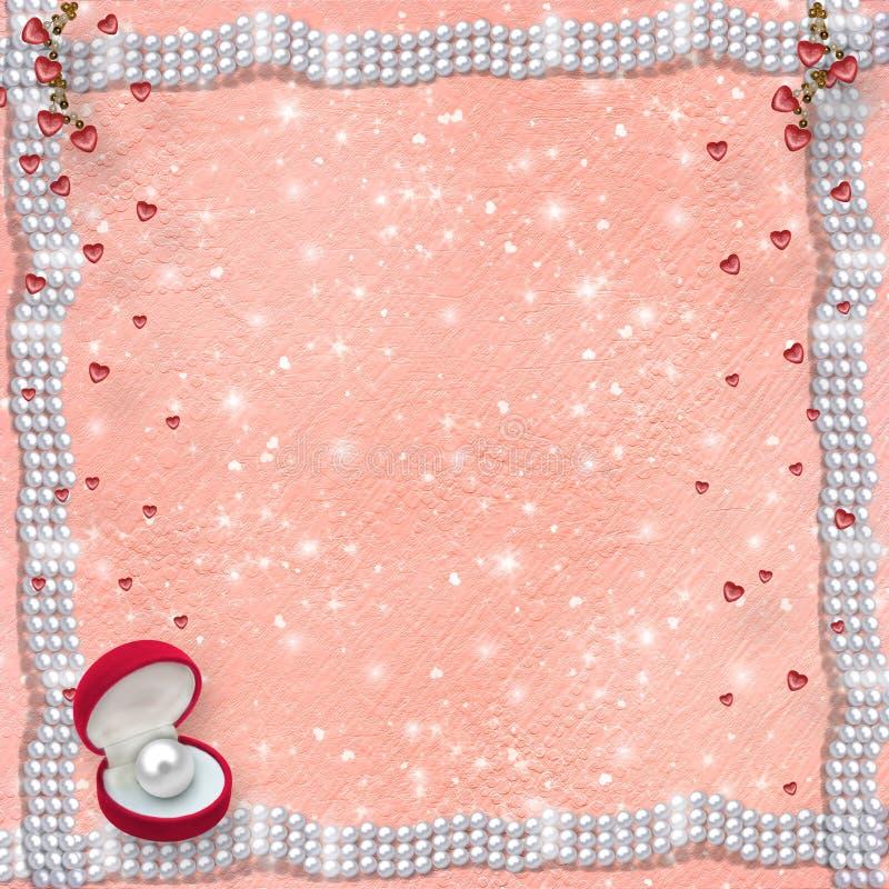 Karte für Jahrestag zu St.-Valentinstag wi lizenzfreie abbildung