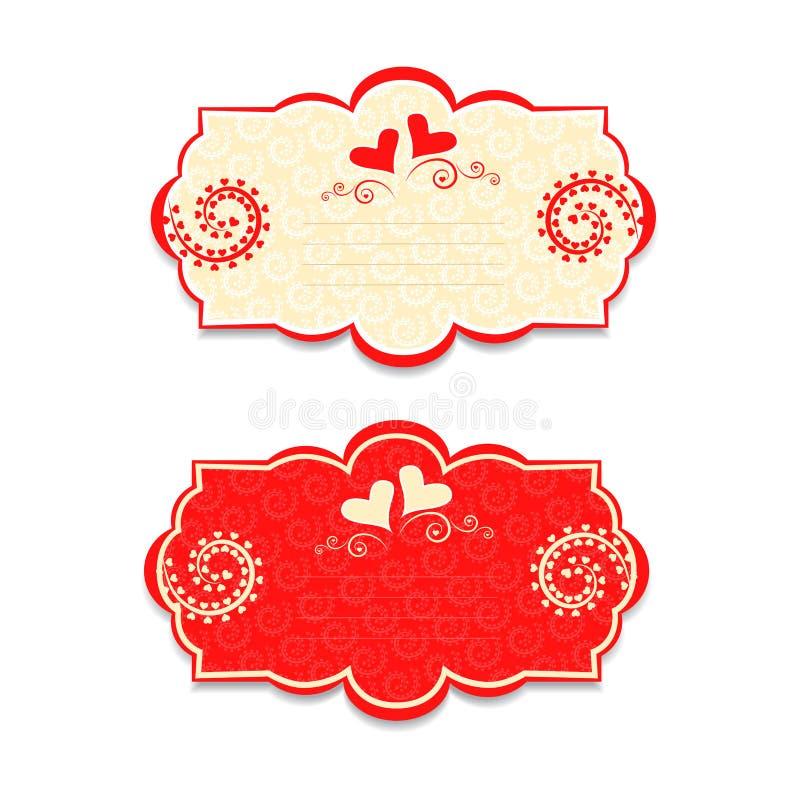 Download Karte Für Valentinstag, Eine Schablone Für Das Schreiben Vektor  Abbildung   Bild: 35996712