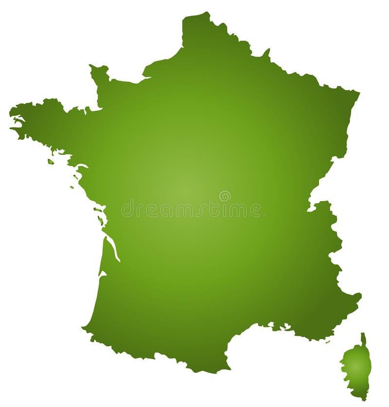 Karte Frankreich lizenzfreie abbildung