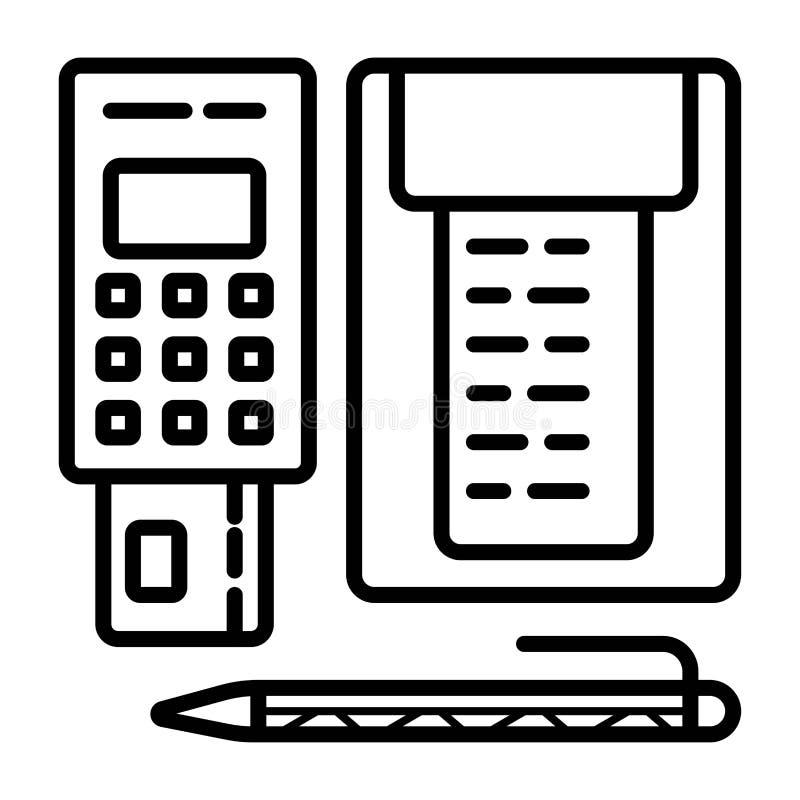 Karte, Geld, M?nzen und Scheck Zahlungsmethoden vektor abbildung
