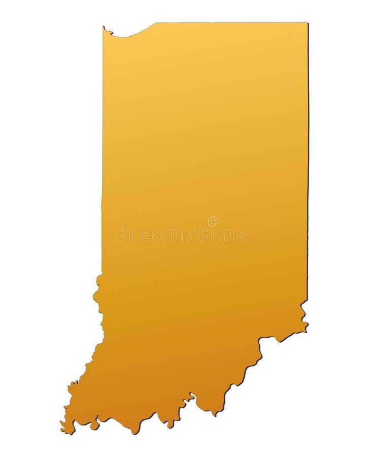 Karte Indiana-(USA) lizenzfreie abbildung