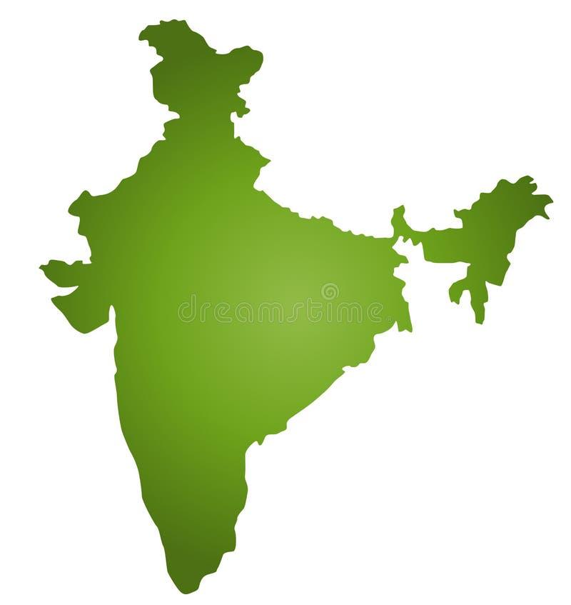 Karte Indien lizenzfreie abbildung