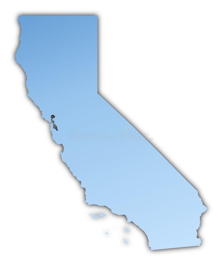 Karte Kalifornien-(USA) vektor abbildung