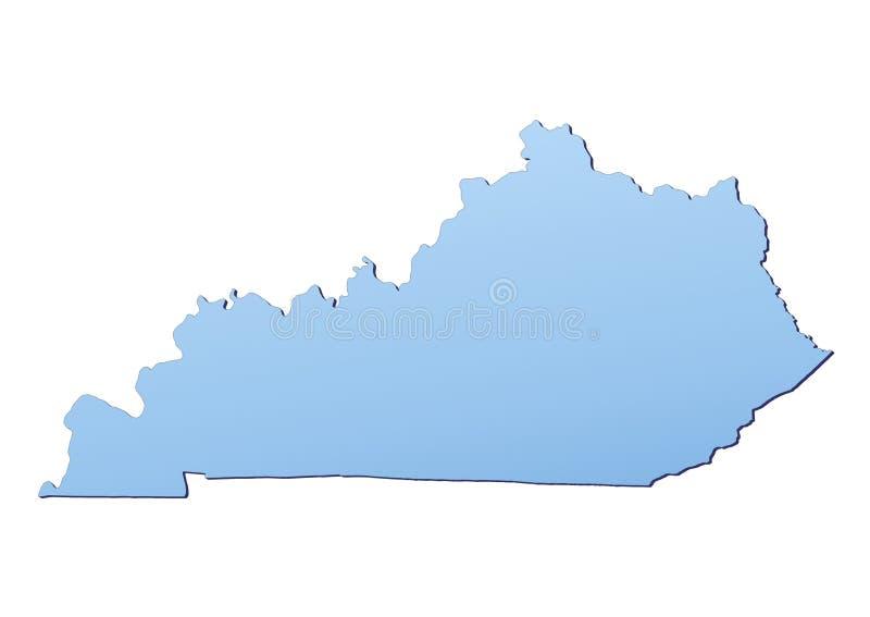 Karte Kentucky-(USA) lizenzfreie abbildung