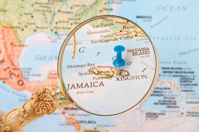 Karte Kingstons, Jamaika lizenzfreie stockbilder
