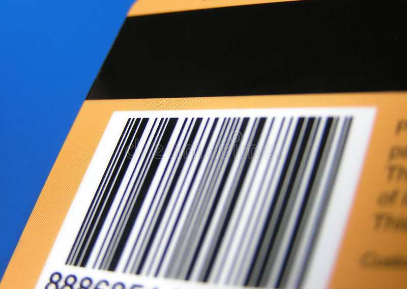 Karte Mit Barcode Und Streifen Lizenzfreie Stockfotos