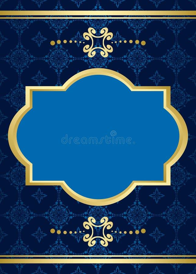Karte mit blauem Muster stock abbildung