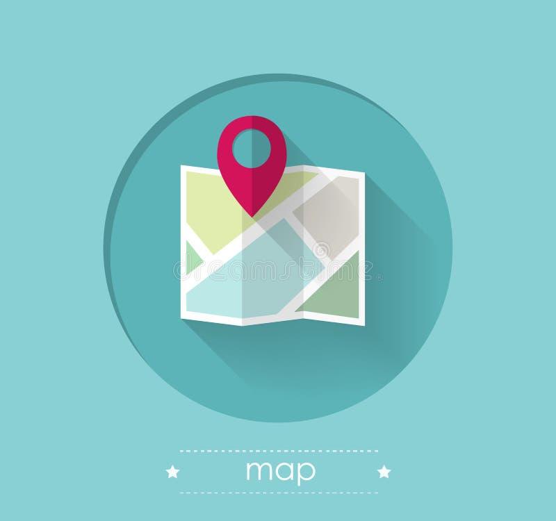 Karte mit Standort Pin vektor abbildung