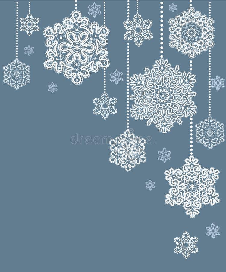 Karte mit Weihnachtsschneeflocke. stock abbildung
