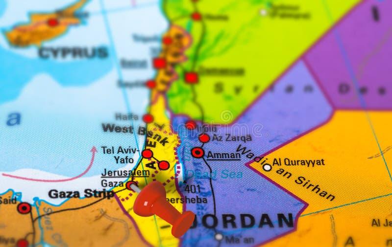 Karte Palästinas Gaza lizenzfreie stockfotografie