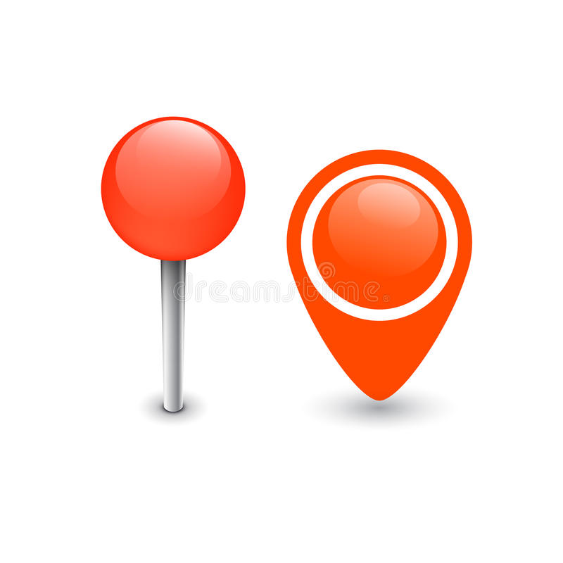 Karte Pin Marker stock abbildung