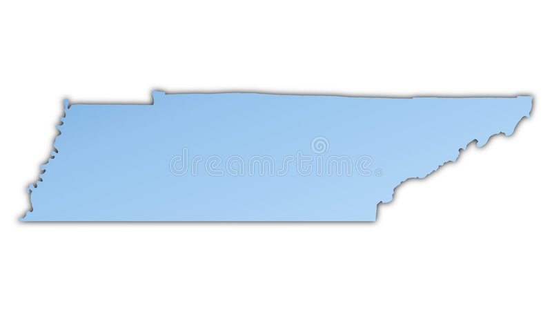 Karte Tennessee-(USA) Stockbild