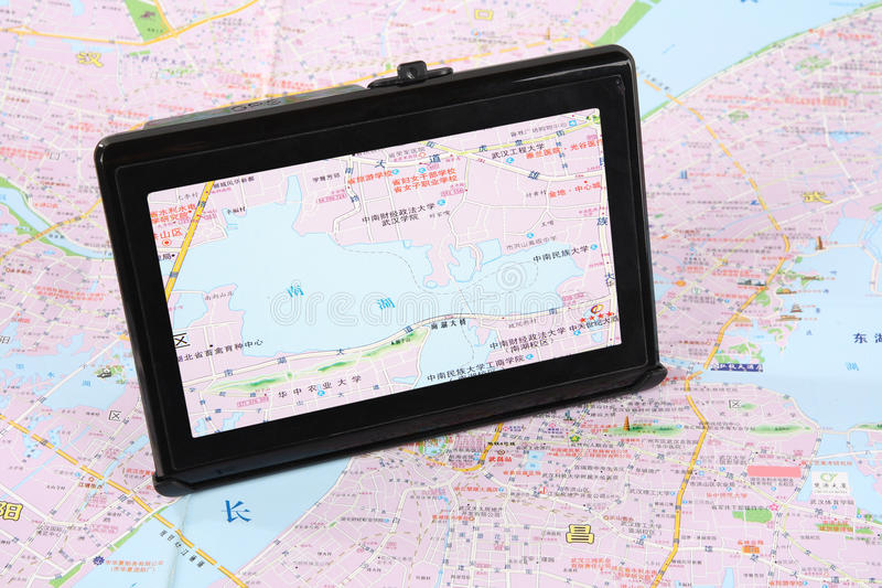 Karte und gps stockfotos