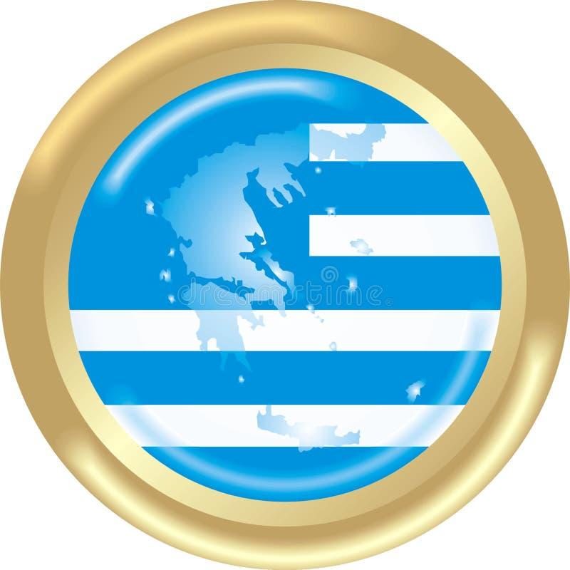 Karte und Markierungsfahne von Griechenland vektor abbildung