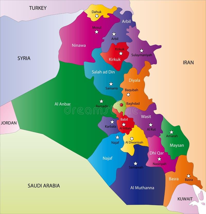 Karte vom Irak lizenzfreie abbildung