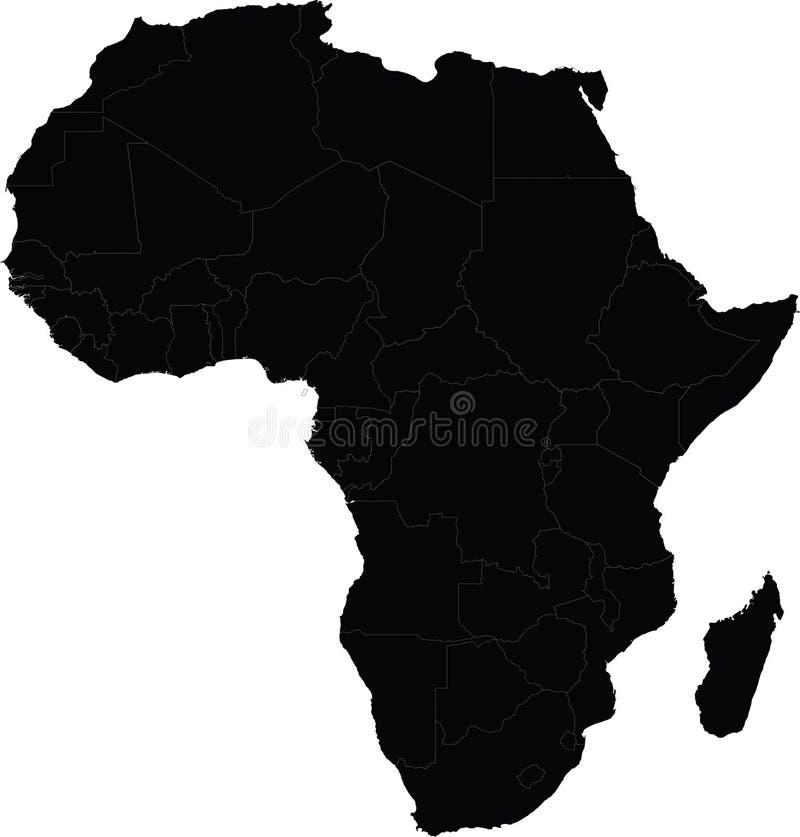 Karte von Afrika-Vektor stock abbildung