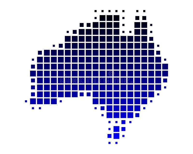 Karte von Australien lizenzfreie abbildung